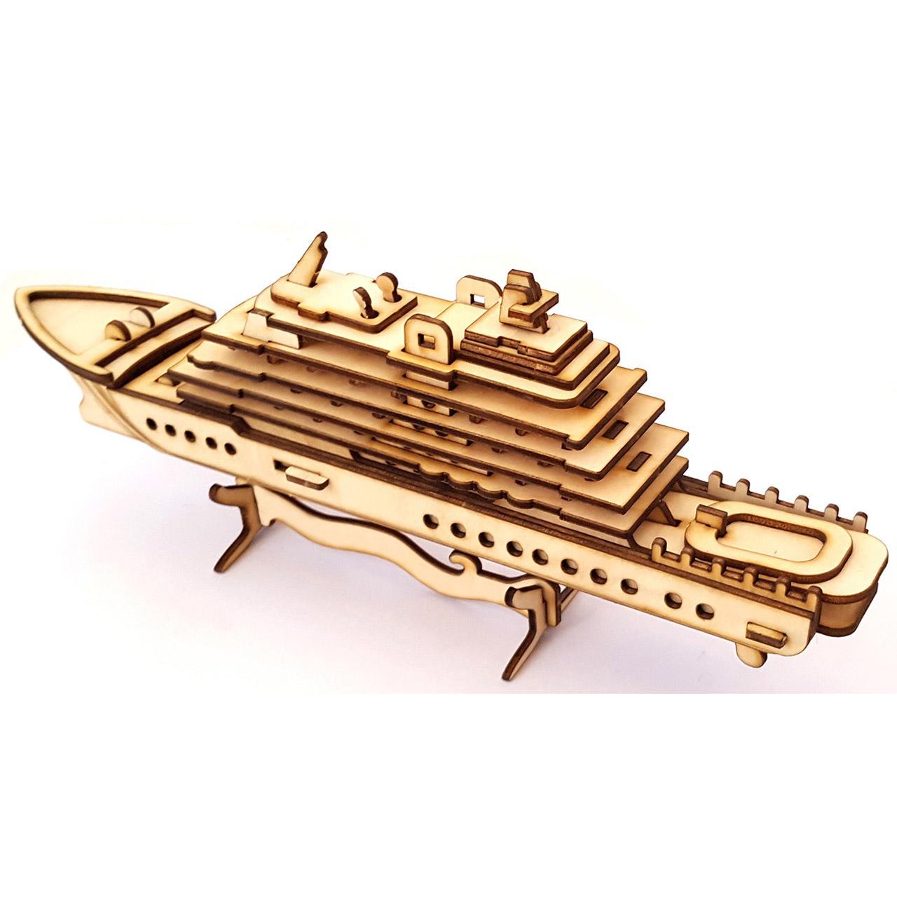 پازل سه بعدی چوبی برتاریو مدل Cruise Boat