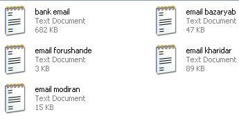 دانلود فاایل لیست ایمیل بازاریاب ها ، فروشندگان ، خریداران محصولات و مدیران سایت ها